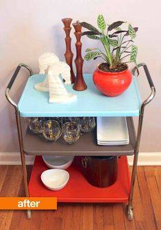 Before & After: Rusty & Dusty Bar Cart Gets A Mod Makeover — Snag