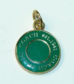 #2 - Love this simple style (any color!) ... COACH Chelsea Legacy Orange Pendant Necklace Charm