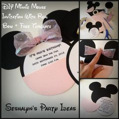 Hostess with the Mostess® - DIY Minnie Mouse Invitations With Real Bow