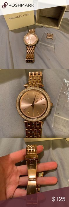 5722094b7e6c Michael kors Darci pave rose gold watch In good condition. That circle on  the watch