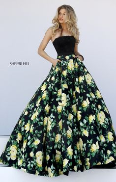 Not sure if my daughter would like the yellow but I love: -black floral -size of the print on the skirt -top is super cute! xoxo Mom  ~LK  #50036 Sherri Hill