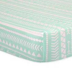 product image for The Peanut Shell® Tribal Fitted Crib Sheet in Mint