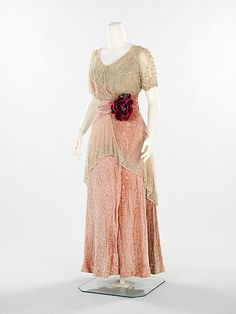 Evening dress Herbert Luey  (American, Northfield, Massachusetts 1860–1916 Brooklyn) Date: 1912–14 Culture: American