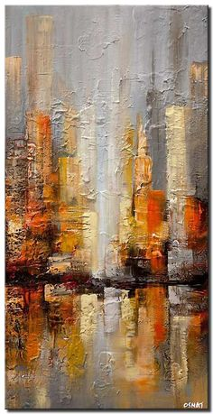 Abstract Art Paintings 399272323218845155 - gray city painting textured abstract city Source by chichonetta Building Painting, City Painting, Knife Painting, Painting Art, Watercolor Painting, Abstract City, Abstract Canvas Art, Blue Abstract, Abstract Trees