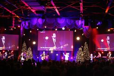 Theatrical Christmas set up a Journey Church in Norman, OK.  Read about how they put it together.