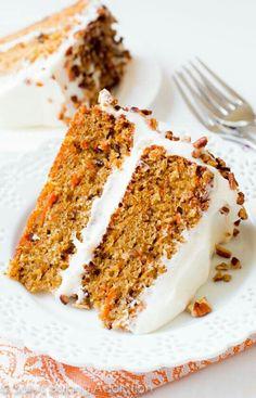Cake Recipes Uk, Cheesecake Recipes, Baking Recipes, Dessert Recipes, Desserts, Easy Carrot Cake, Moist Carrot Cakes, Cake Recipe Without Baking Powder, Food Cakes