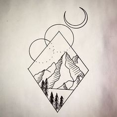 Looking to tattoo this #geometric #mountain #tattoodesign hit me up!
