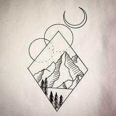 Looking to tattoo this #geometric #mountain #tattoodesign hit me up!