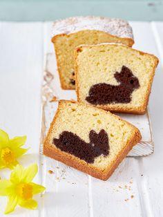 Klassischer Kuchen mit großer Osterüberraschung.