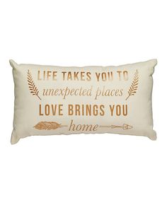 Look at this 'Unexpected Places' Throw Pillow on #zulily today!
