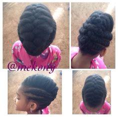 Natural hair updo - styles for little girls!