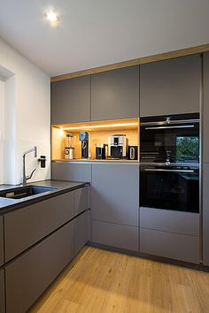 Kitchen Room Design, Kitchen Cabinet Design, Modern Kitchen Design, Home Decor Kitchen, Interior Design Kitchen, Kitchen Furniture, New Kitchen, Home Kitchens, Small Modern Kitchens