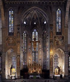 Altar mayor de la Basilica of Santa Croce, Florence, Italy Beautiful Architecture, Art And Architecture, Places To Travel, Places To Go, Web Gallery Of Art, Giorgio Vasari, Toscana Italia, Cathedral Church, Place Of Worship