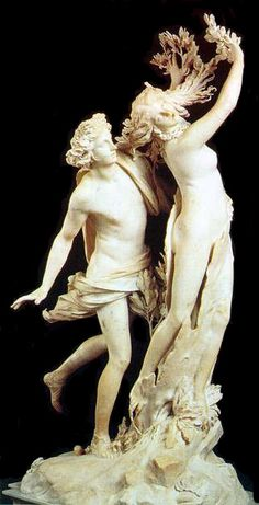 Apollo and Daphne, Carrara's marble cm. 243 | Gian Lorenzo Bernini. This life-size marble sculpture, begun by Bernini at the age of twenty-four and executed between 1622 and 1625.  http://www.galleriaborghese.it/borghese/en/edafne.htm#