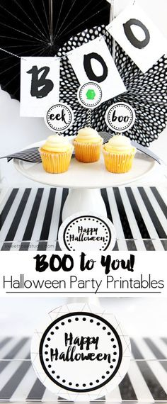 Boo to You Halloween Party Printables