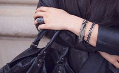 Gunmetal accessories- my favorite shade of silver.