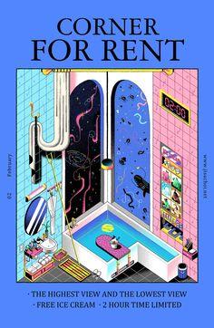 Graphic Design Posters, Graphic Design Illustration, Graphic Design Inspiration, Digital Illustration, Graphic Art, Bd Comics, Arte Popular, Art Graphique, Cool Posters