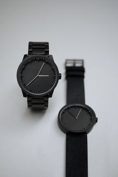 Tube Watch in Black design by Leff Amsterdam