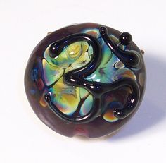 Sacred Om handmade lampwork bead  small focal with  Om by Genea
