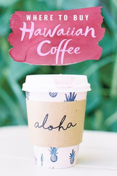 Where To Buy Hawaiian Coffee Online - Looking for a delicious cup at Hawaiian coffee at home? Here are the best places to buy it online! Coffee Company, Coffee Shop, World Farm, Coffee Gallery, Kauai Coffee, Hawaiian Coffee, Coffee Around The World, Caramel Crunch, Banana Nut
