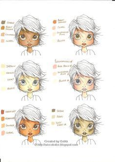 Wiccababe's Tutorials: Skin Tone Colour Combos~~not copics, but still a very good tutorial