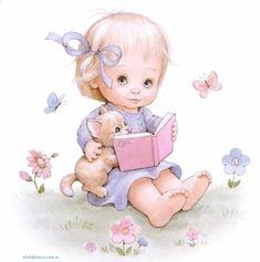 By Ruth Morehead Illustration Mignonne, Cute Illustration, Cute Images, Cute Pictures, Art Mignon, Sarah Kay, Baby Album, Holly Hobbie, Baby Cartoon