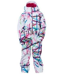 6ebd4643e Spyder Girl's Bitsy Sassy Snow Suit - White Cross Hatch with Diva Pink Kids  Skis,
