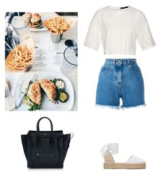 """""""Senza titolo #62"""" by annadallolio ❤ liked on Polyvore featuring Philosophy di Lorenzo Serafini, Manebí and CÉLINE"""