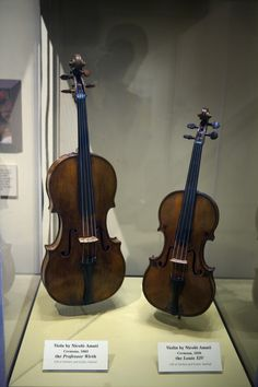 Nicolo Amati viola & violin. I'm pretty sure these are on display at one of the Smithsonian museums in D.C.
