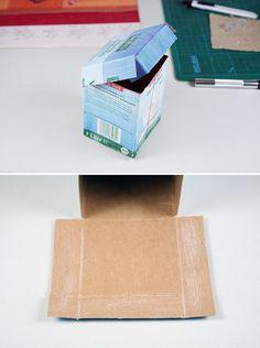 Die Architektin und Bloggerin Katja Deck verrät HANDMADE Kultur Leserinnen, was man aus leeren Tetrapaks machen kann. Grandios! Katja hat zwei Jungs zu Hause, die unglaublich viel Milch trinken. Irgendwann dachte sie, da muss man doch noch etwas draus machen … weiterlesen Decor Crafts, Diy And Crafts, Paper Crafts, Tetra Pack, Water Into Wine, Diy Cardboard, Bottle Bag, Worlds Of Fun, Diy Projects To Try