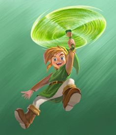The Legend of Zelda: A Link Between Worlds official artwork.