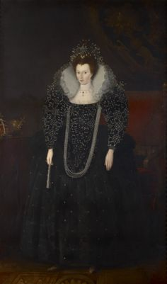 Royal collection - Portrait of a woman - attributed to Lucas de Heere, prob a 19th c copy