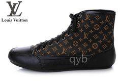 Louis Vuitton Mens High Top Shoes Coffee Arabesquitic $75.99  http://www.queeruva.com