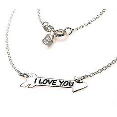 Gargantilla flecha I Love You de Plata   Joyeria online  dfa71d48f0e