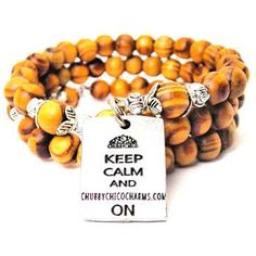 NATURAL WOOD WRAP BANGLE KEEP CALM AND CHUBBYCHICOCHARMS.COM ON BRACELET - See more at: http://www.chubbychicocharms.com #ChubbyChicoCharms #Quotes #Awesome #AmericanMade