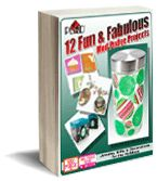 free eBook: 12 Fun & Fabulous Mod Podge Projects #crafts