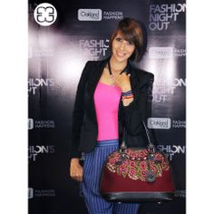 The journalist Haydee Archila wearing her Maria's Bag at a fashion event #mariasbag