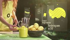 Citronnade, A Beautiful Motion Graphics ID Made by Studio Grymo
