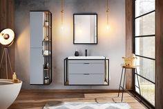 Setul Manhattan Grey se remarcă prin design și ergonomie, materialele utilizate fiind de cea mai bună calitate, rezistente la umezeală și cu finisaje plăcute. #interiordesign #design #homedecor #bathroomdesign #interiors #inspiration #bathroominspo Bathroom Goals, Bathroom Inspo, Bathroom Inspiration, Bathroom Furniture, Furniture Sets, Catania, Manhattan, Kitchen Design, Ibiza