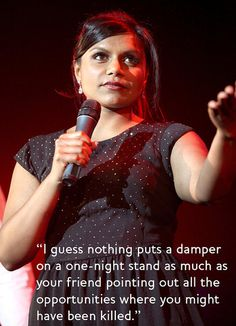 Mindy Kaling dating advice — One-Night Stands Can Turn Into an Episode of Law & Order: SVU