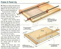 Frame and Panel Clamping Jig - Cabinet Door Construction Techniques   WoodArchivist.com