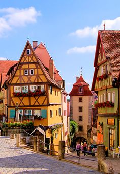 "Romantische Strasse, or ""Romantic Road,"" in Rothenburg, Germany #GrouponGetaways"