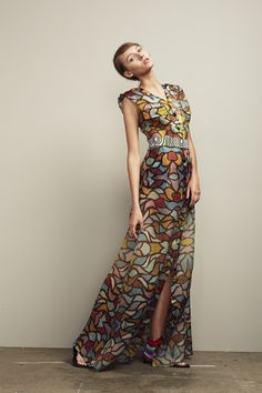 ngurlu long dress with flap pocket silk organza by roopa featuring the art of