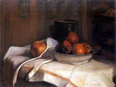 Władysław Ślewiński - Martwa natura z dzbanem i jabłkami, 1902