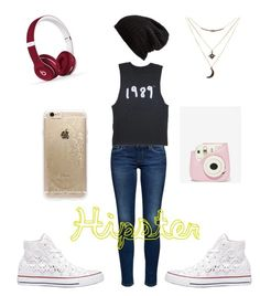 """Hipster"" by afashionfangirl230 on Polyvore featuring Converse, Charlotte Russe, Free People, Beats by Dr. Dre and Rifle Paper Co"