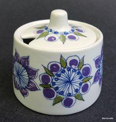 #Figgjo Norway Mustard #Pot 2in #Lotte Purple Market Mini Sugar 1970s Turi Design