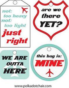 Luggage tag printable