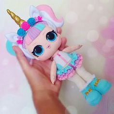 Le plus récent Écran lol suprise Suggestions Felt Doll Patterns, Stuffed Toys Patterns, Lol Dolls, Cute Dolls, Doll Crafts, Clay Crafts, Unicorn Doll, Baby Mobile, Free To Use Images