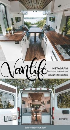 Check out these 6 gorgeous Camper van conversions to inspire your next adventure life hacks life aesthetic life budget life interior life vehicles Van Conversion Interior, Camper Van Conversion Diy, Van Interior, Camper Interior, Van Conversion Designs, Ford Transit Camper Conversion, Vw Camper Conversions, Build A Camper Van, Bus Camper