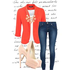 Blazer Outfit no.2 by huiwenzheng on Polyvore